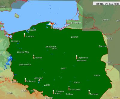 """4:10 UTC - brak """"chemtraila"""" pod Warszawą"""
