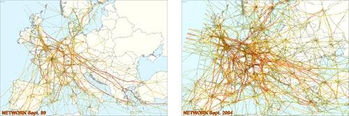 Nasilenie ruchu lotniczego w latach 1989-2004